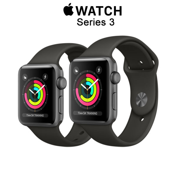Apple Watch Series 3 GPS Space Gray Aluminum - Gray Sport Band