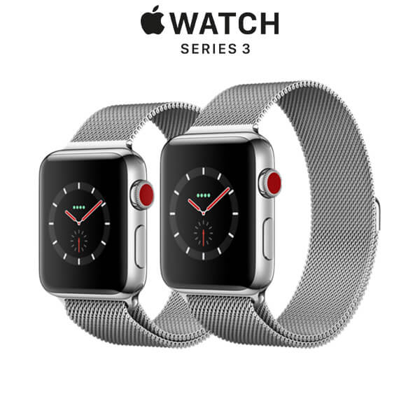 Apple Watch Series 3 GPS + Cellular Stainless Steel Case with Milanese Loop