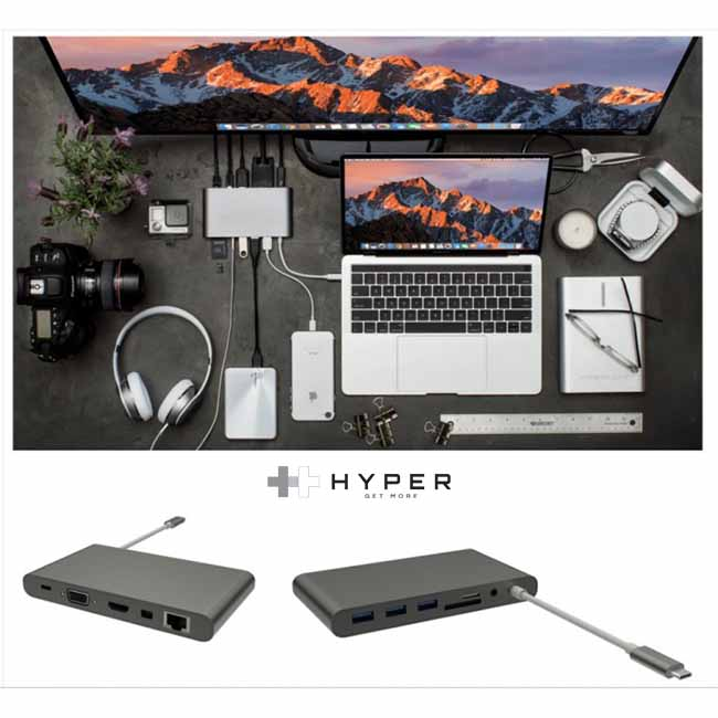 Bộ Chia Cổng Hyperdrive USB-C Ultimate Hub for MacBook 2016/2017