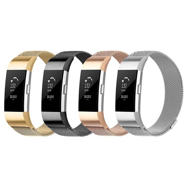 Dây Thép Milanese Loop Stainless Steel Cho Fitbit Charge 2