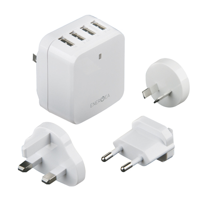 Sạc ENERGEA TRAVELWORLD 4 USB - 6.8A