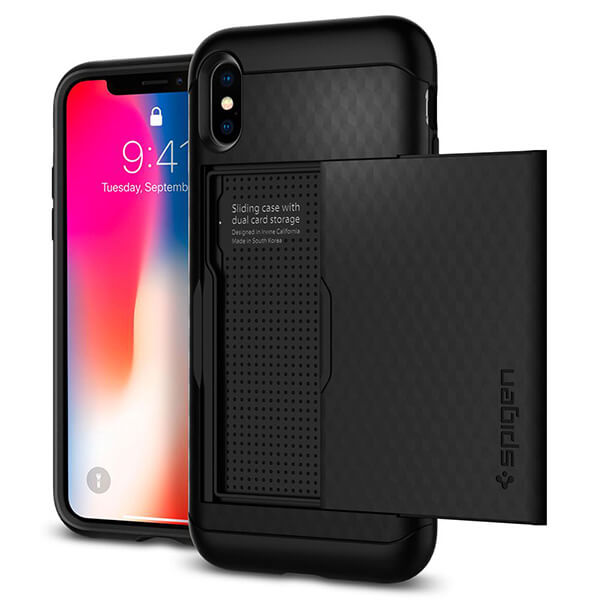 Spigen iPhone X Case Crystal Wallet