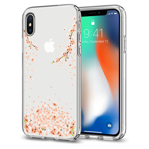 Spigen iPhone X Case Liquid Crystal Blossom