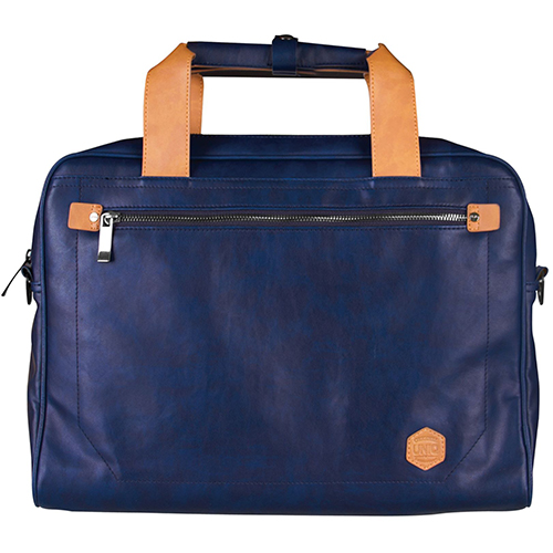 Túi xách Uniq Heritage Leather Blue Laptop 15