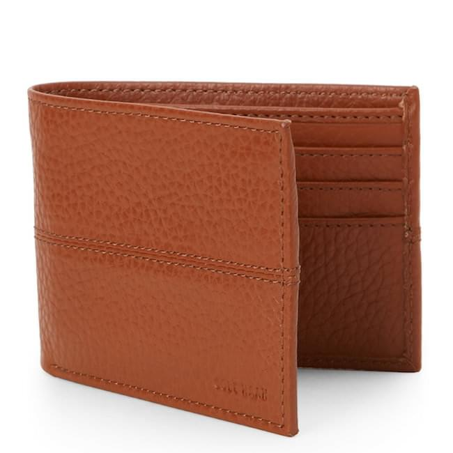 Ví Da Nam COLE HAAN Pebbled Slim Billfold Wallet