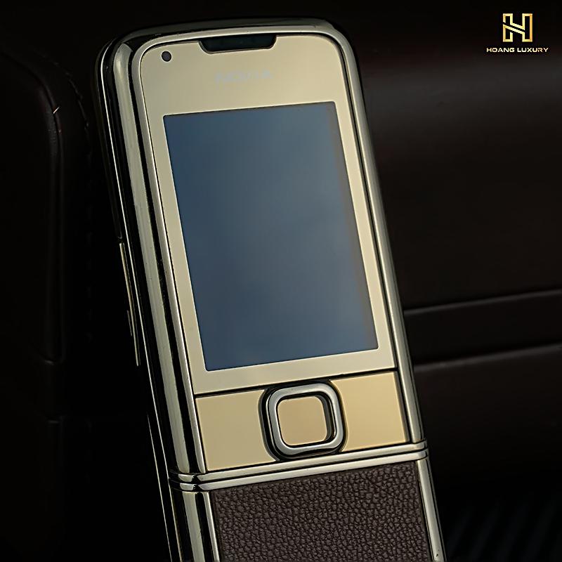 Nokia 8800 gold nguyên bản da nâu full box