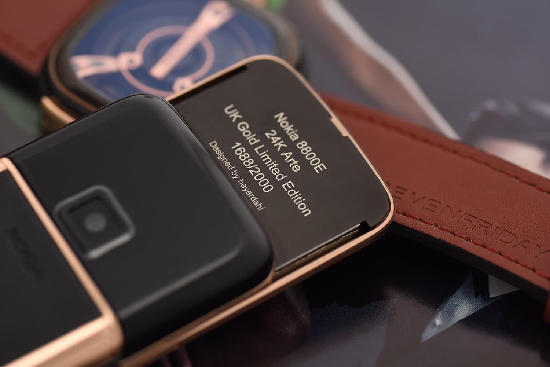 Nokia 8800 vàng hồng da đen sapphire