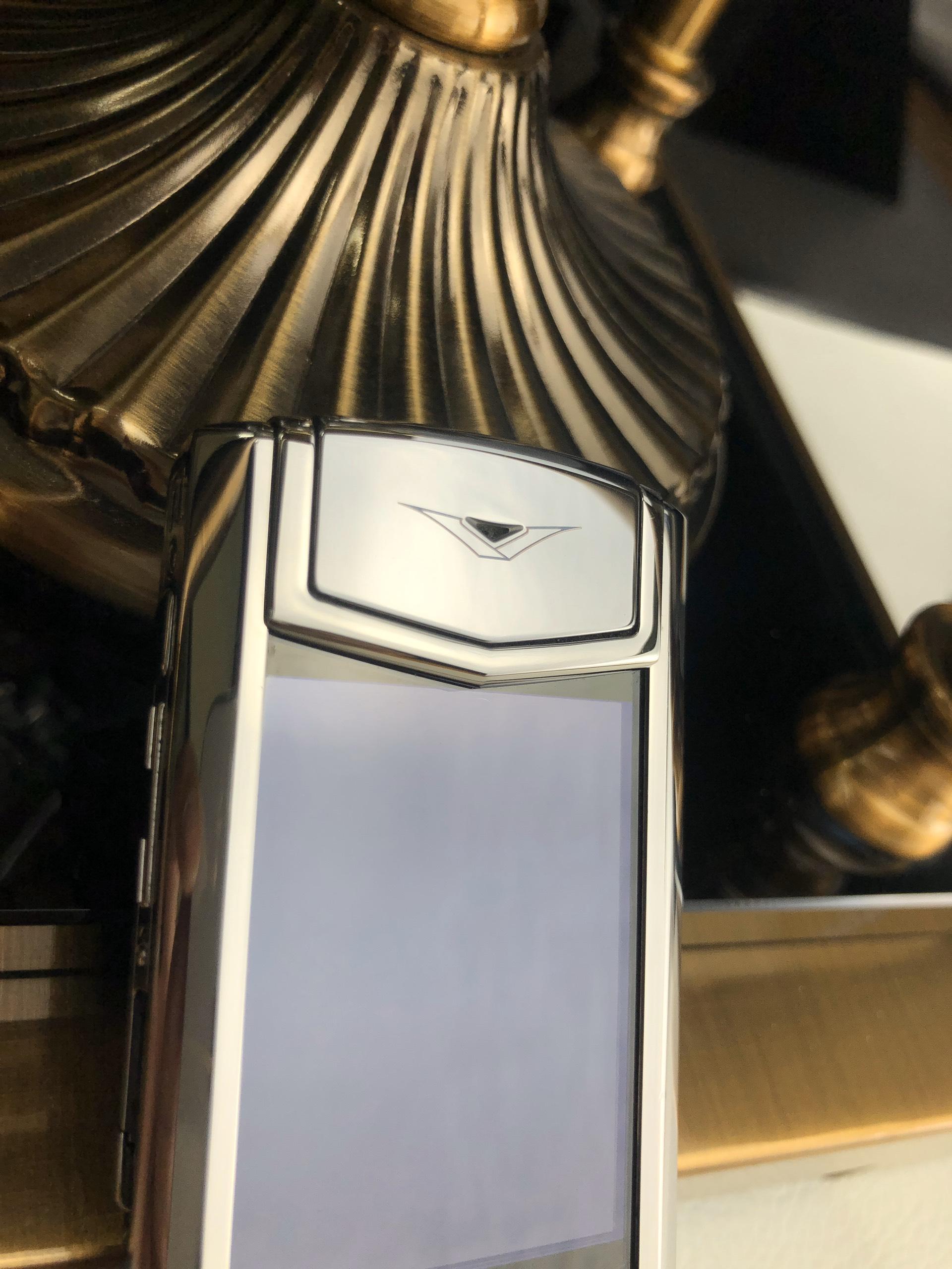 Điện thoại vertu signature s thép bóng navy aligator - 04