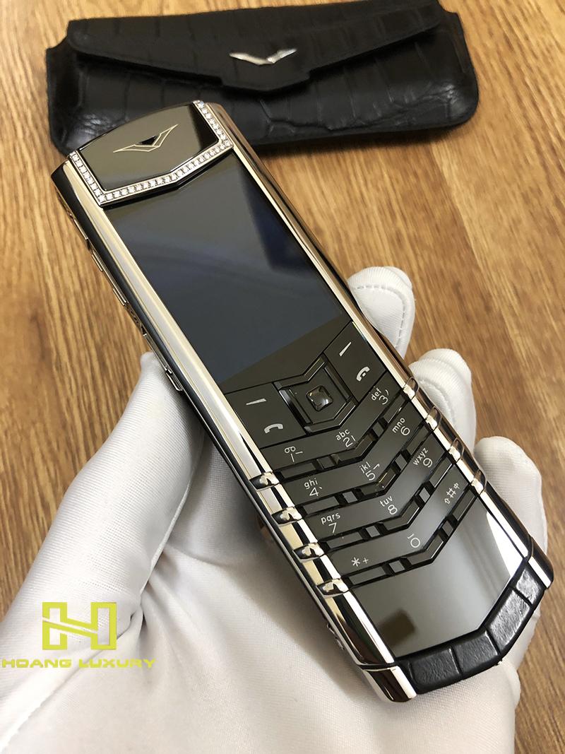 Điện thoại vertu signature s thép bóng điểm kim - 10