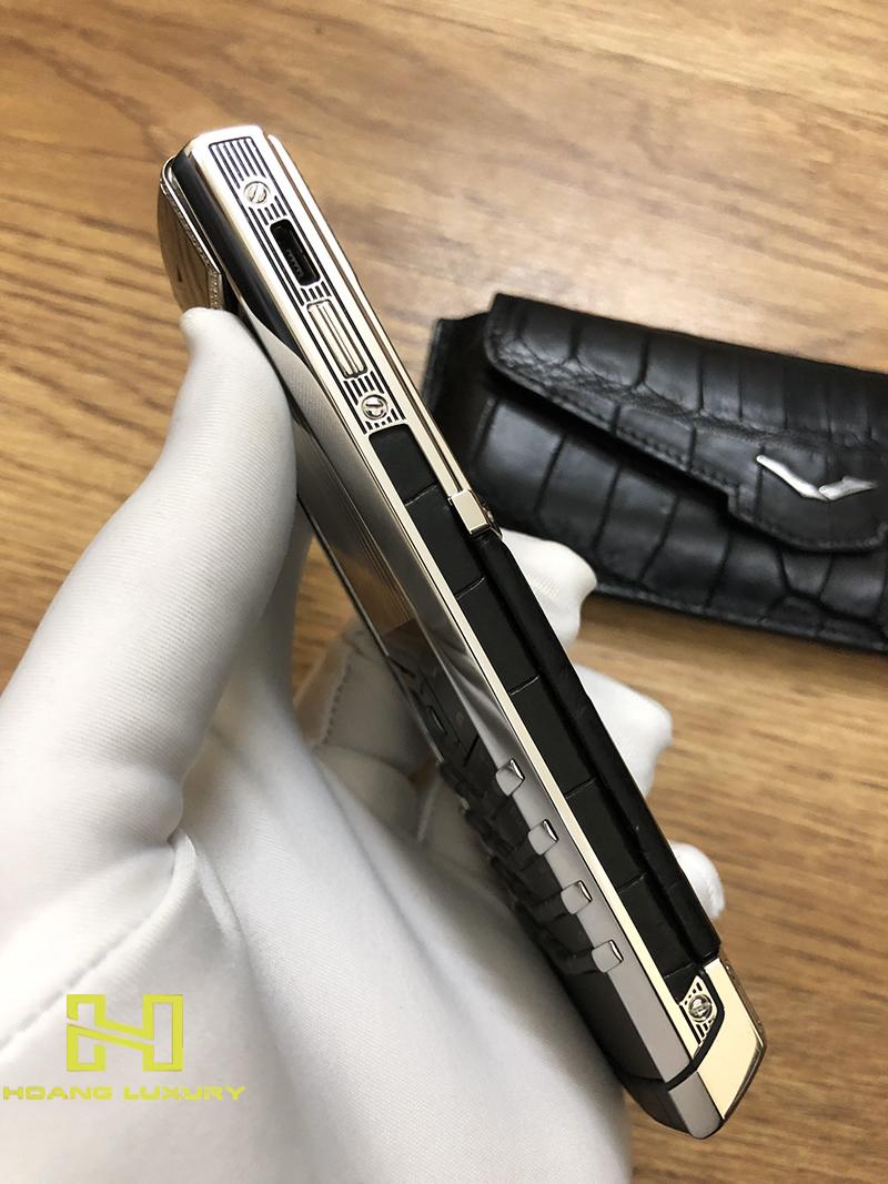 Điện thoại vertu signature s thép bóng điểm kim - 06