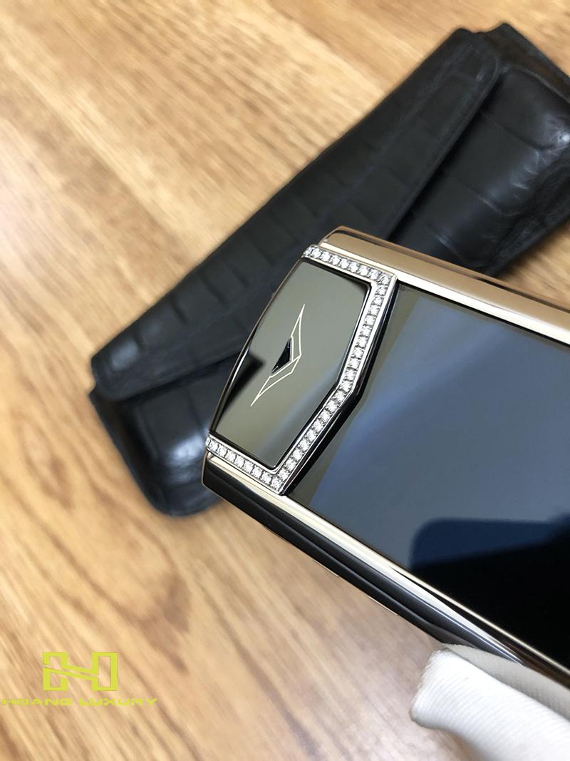 Điện thoại vertu signature s thép bóng điểm kim - 09