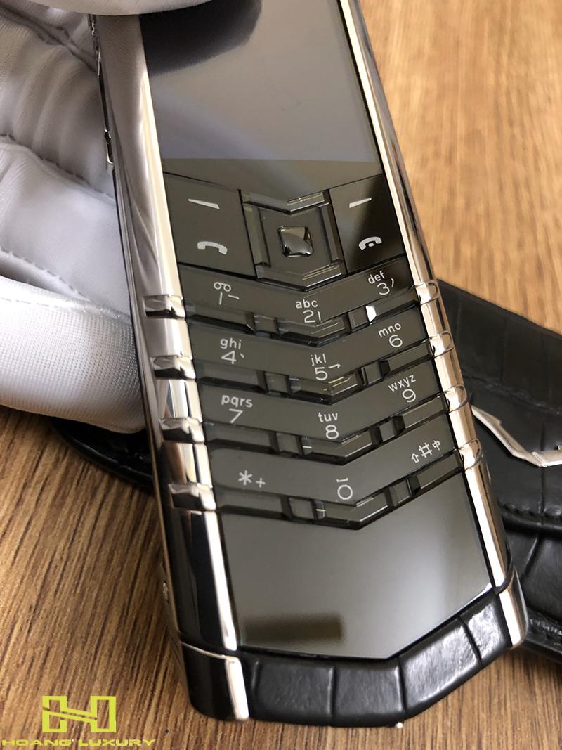 Điện thoại vertu signature s thép bóng điểm kim - 08