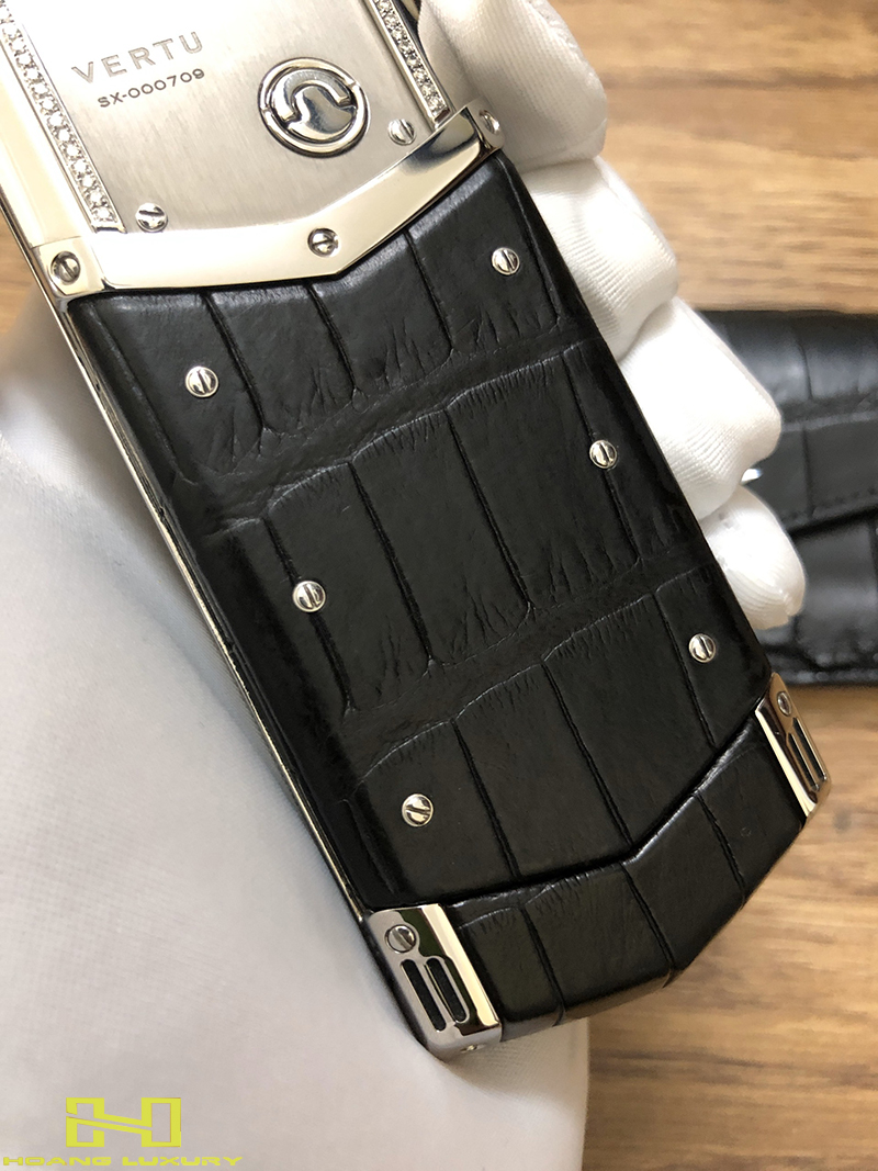 Điện thoại vertu signature s thép bóng điểm kim - 03