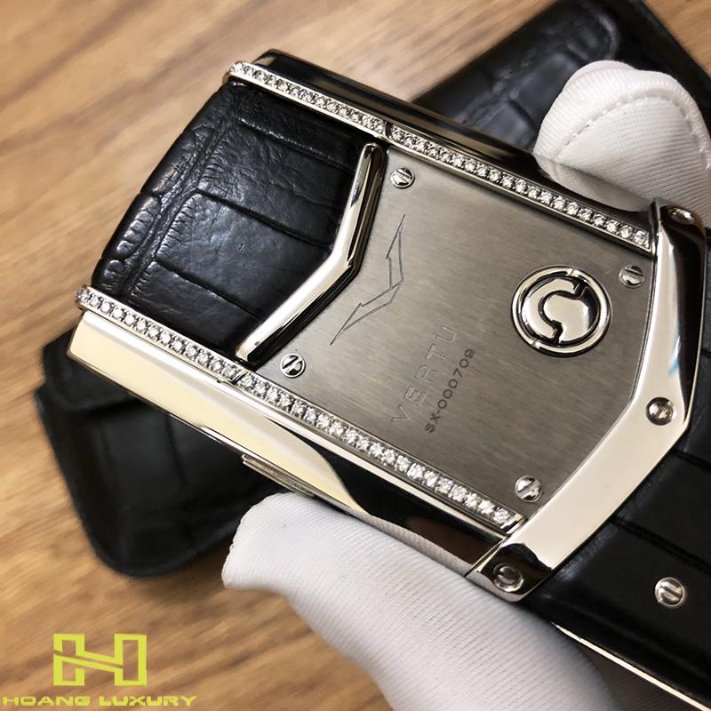 Điện thoại vertu signature s thép bóng điểm kim - 04