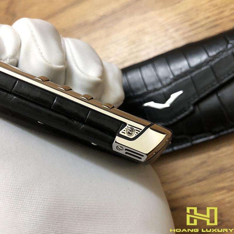 Điện thoại vertu signature s thép bóng điểm kim - 02