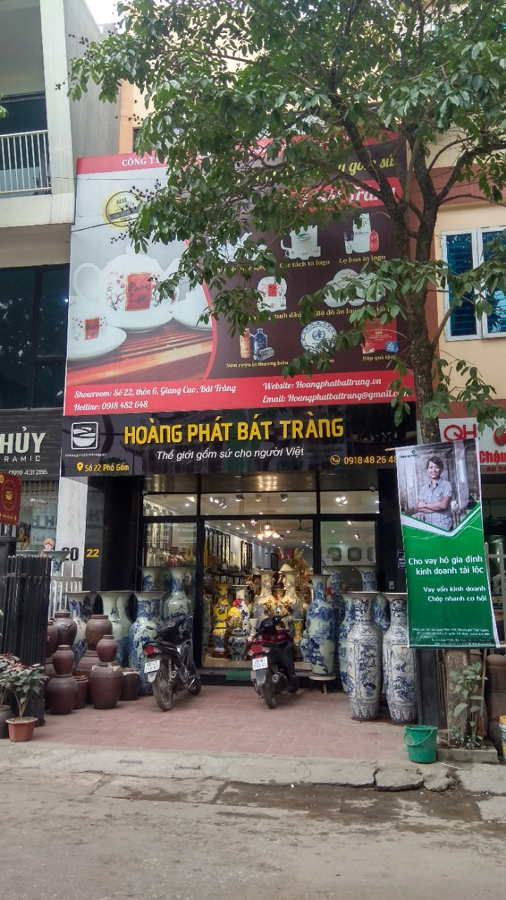 Địa chỉ bán bộ bát đĩa, bộ đồ ăn gốm sứ Hoàng Phát Bát Tràng