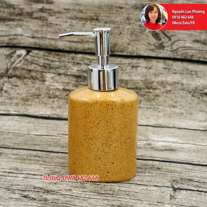Bình xịt nhà tắm, chai đụng sửa dưỡng thể, dầu gội men vàng vòi nhựa