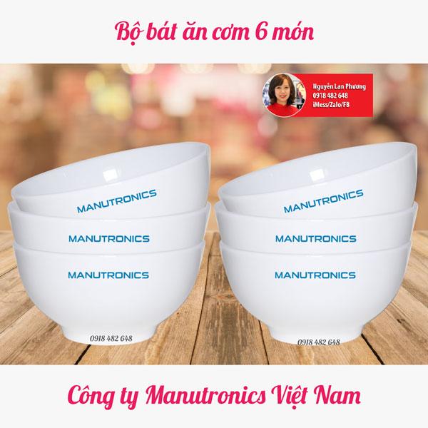 Bộ bát ăn 6 món công ty Manutronics Việt Nam