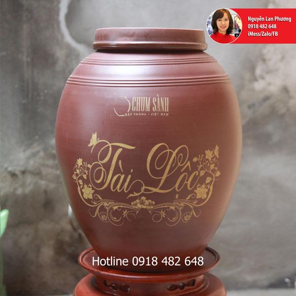 Chum sành ngâm rượu Tài Lộc 30L SP446