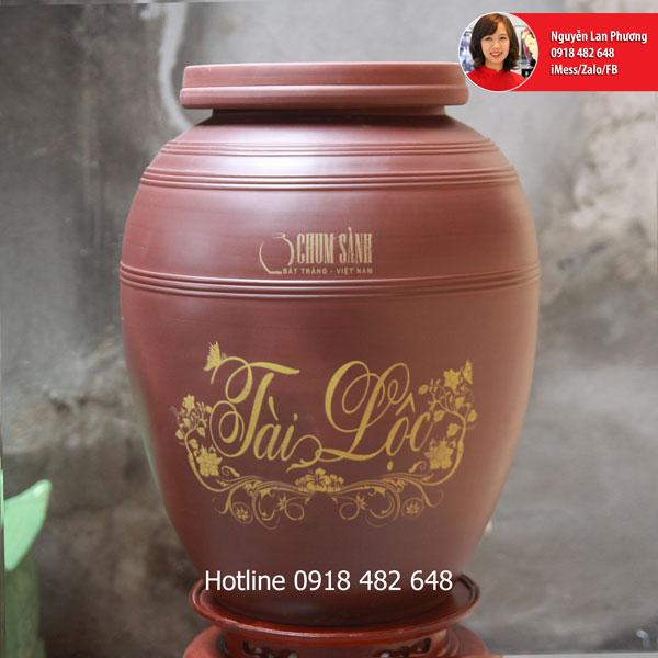 Chum sành ngâm rượu Tài Lộc 40L SP445
