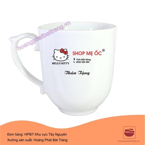 Cốc in logo Shop Mẹ Ốc