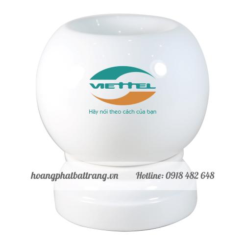 Đèn xông tinh dầu in logo Viettel
