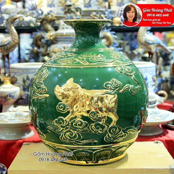 Lộc linh tam hợp hợi mão mùi 3 - Gốm Hoàng Phát