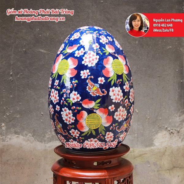 Trứng phong thủy Ngũ phúc hoa mai