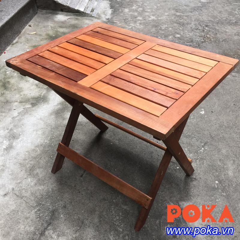 Bàn gỗ cafe mini hình chữ nhật 45x60cm