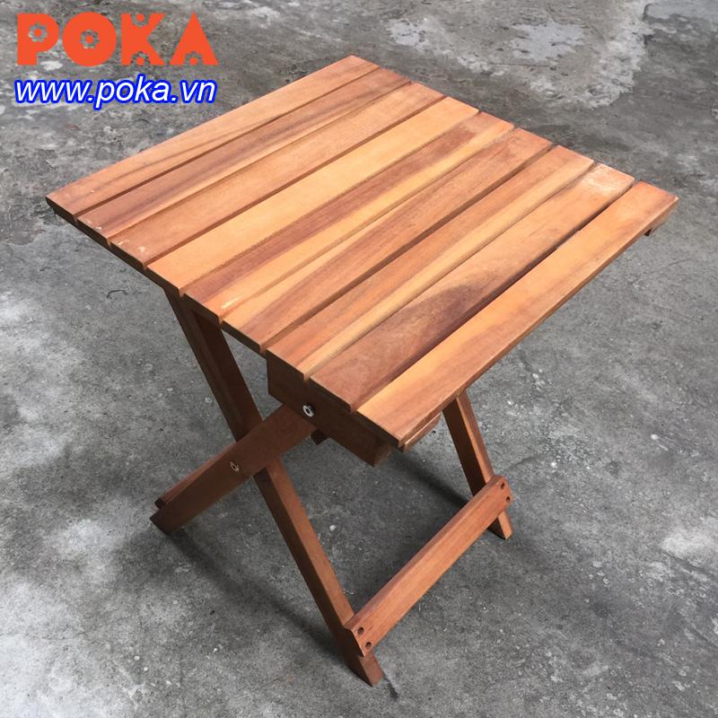Bàn gỗ cafe hình vuông 40x40