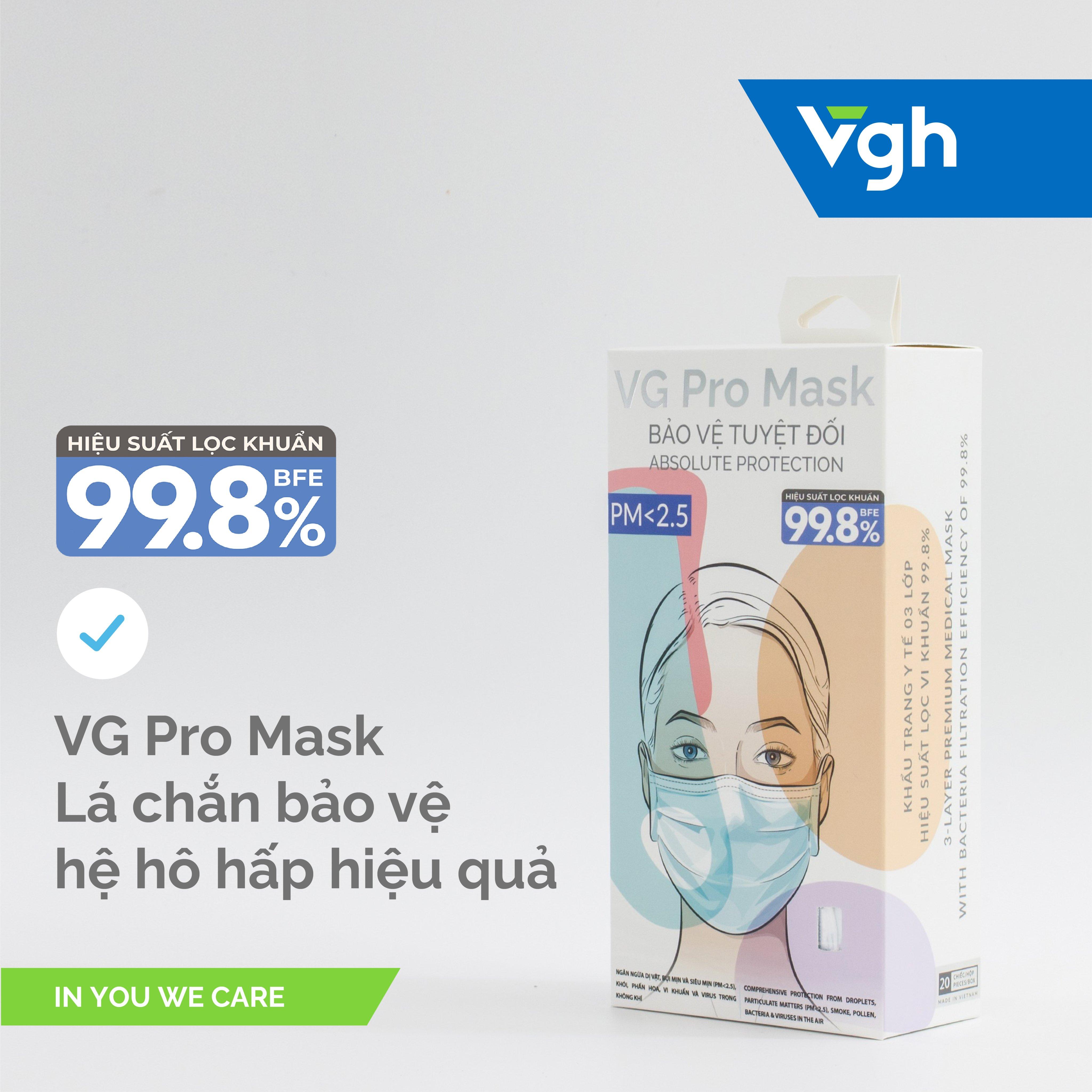 Hộp Khẩu Trang VG Pro Mask (20 cái/ hộp)
