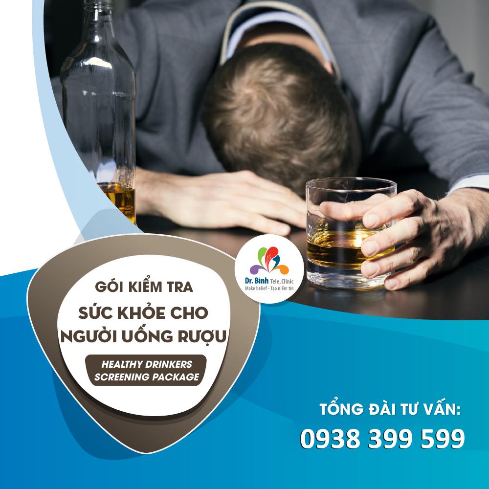 Gói kiểm tra sức khỏe Người uống rượu GS17 - Dr. Binh Tele_Clinic / Healthy drinkers screening