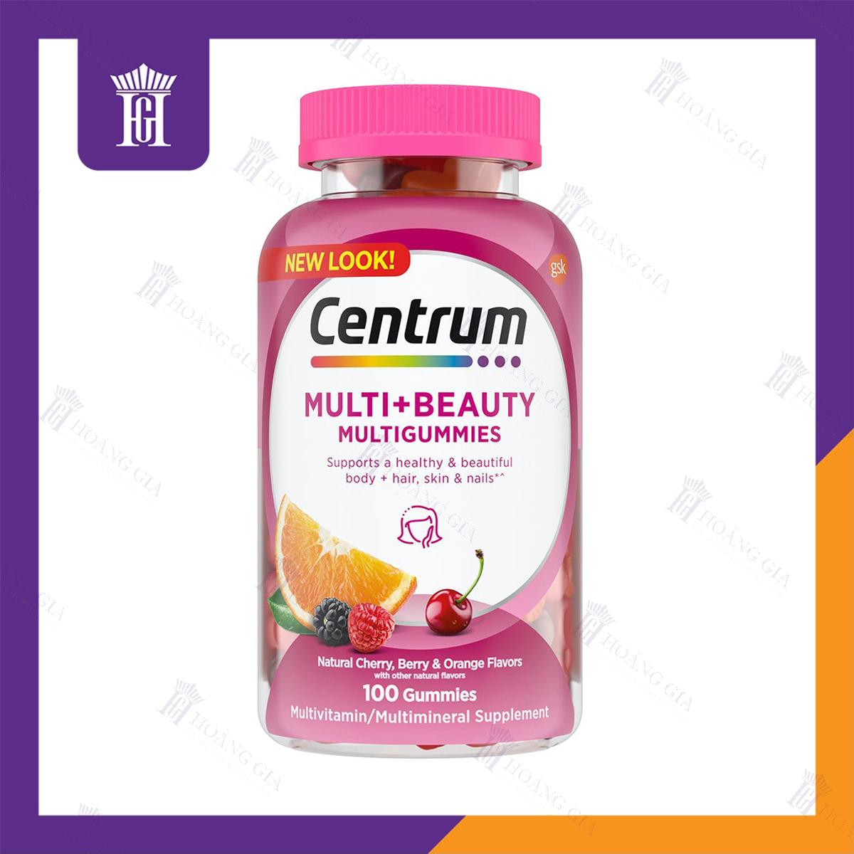 Vitamin tổng hợp Centrum MultiGummies Multi + Beauty
