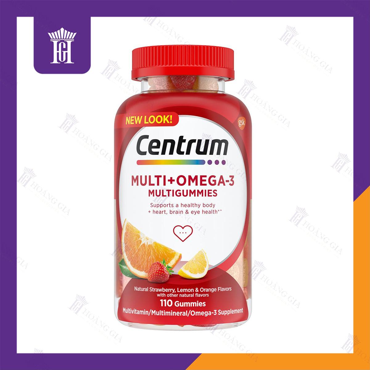 Vitamin tổng hợp Centrum MultiGummies Multi + Omega 3