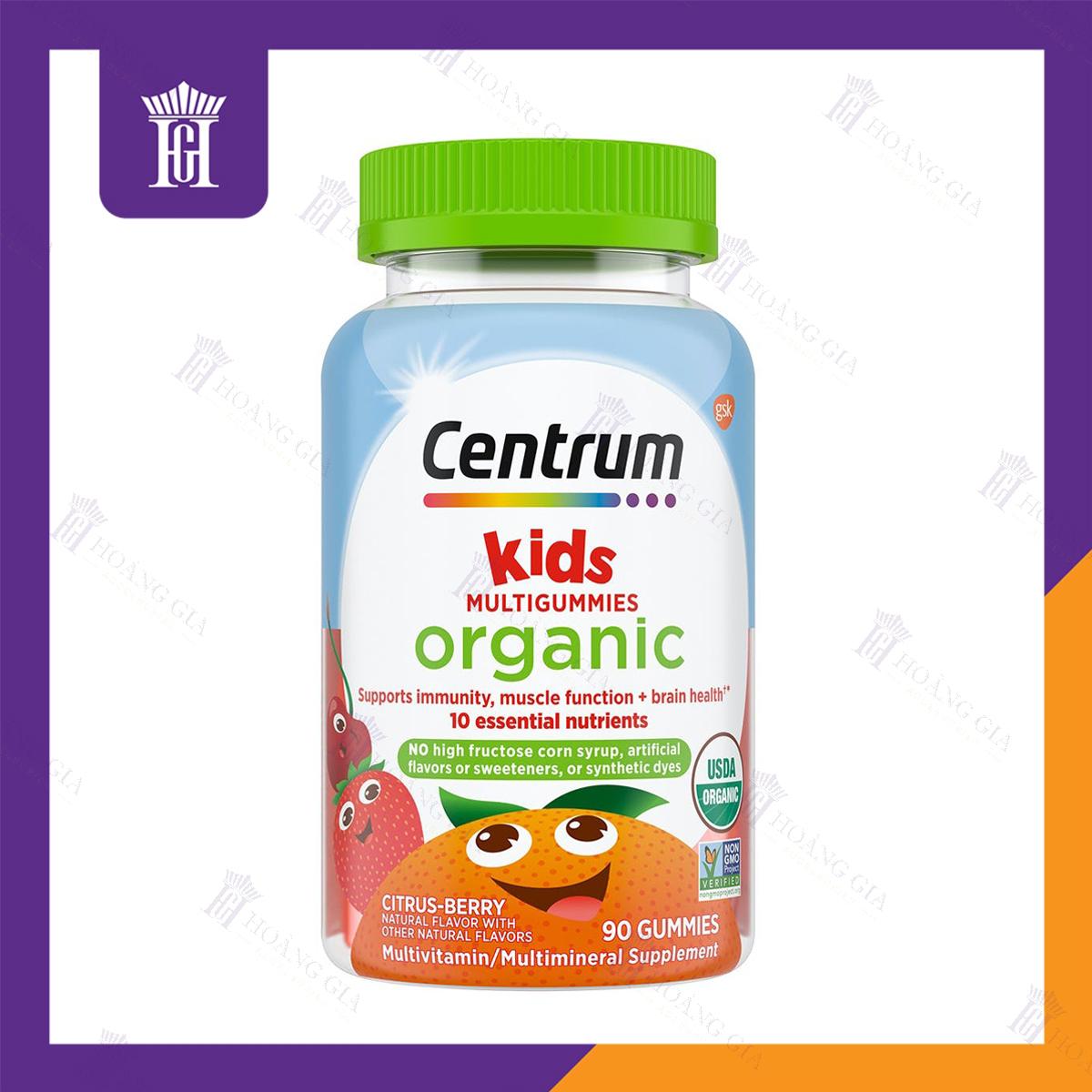 Vitamin tổng hợp hữu cơ dành cho Trẻ em - Centrum Organic Kids Multigummies