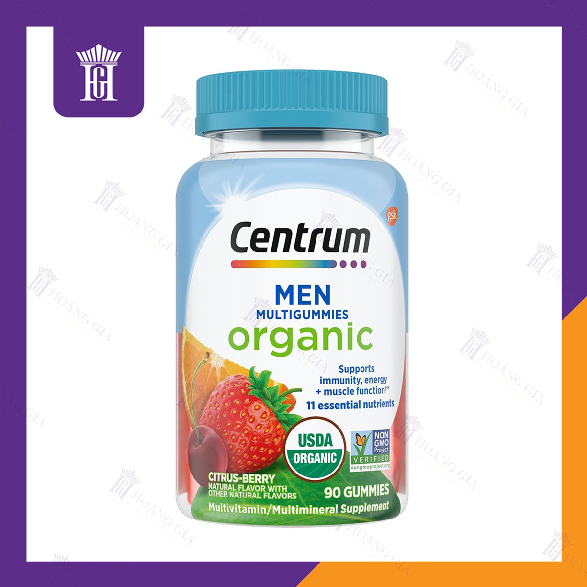 Vitamin tổng hợp hữu cơ dành cho Nam - Centrum Organic Men Multigummies