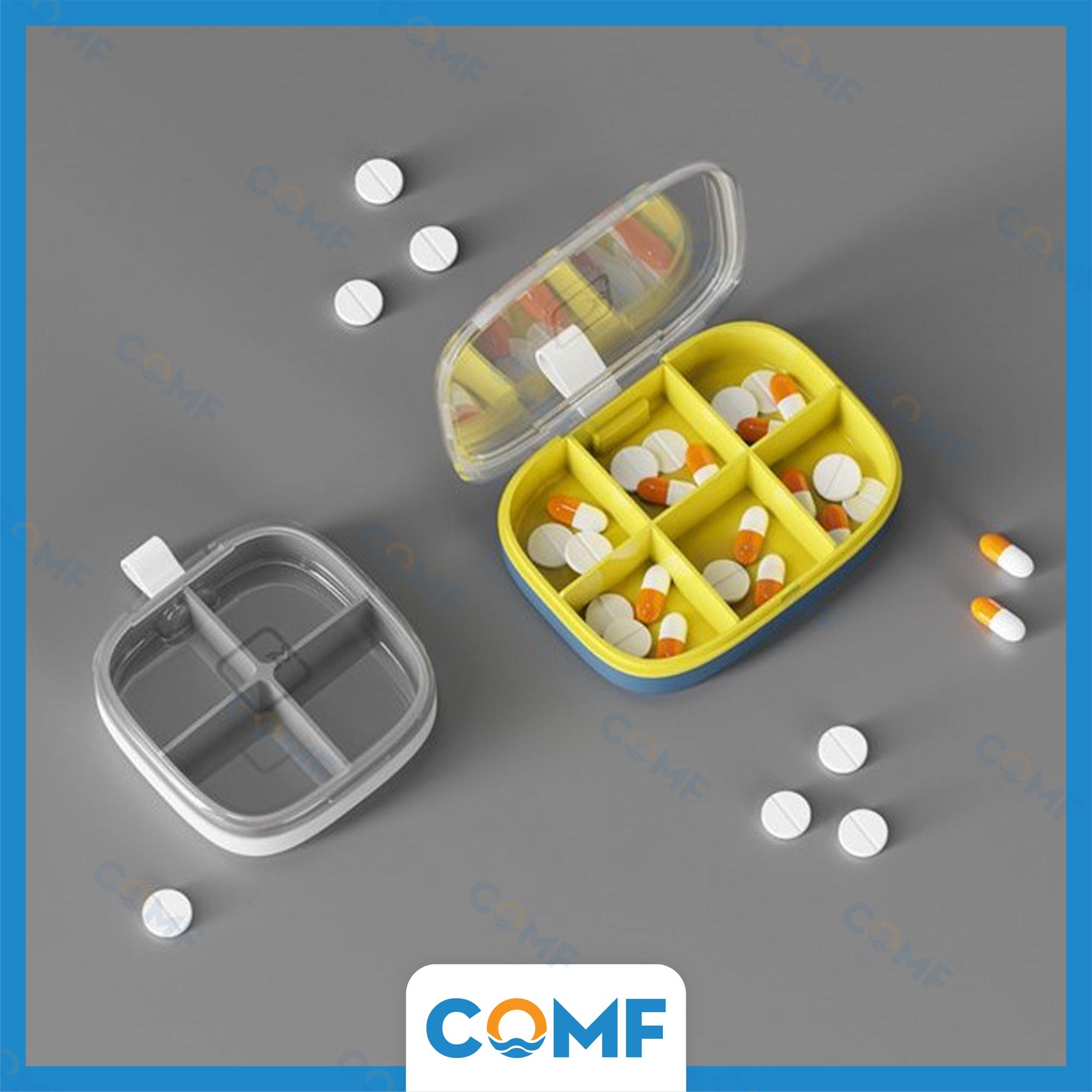 Hộp đựng thuốc COMF hộp chia thuốc nhiều ngăn, nắp trong suốt