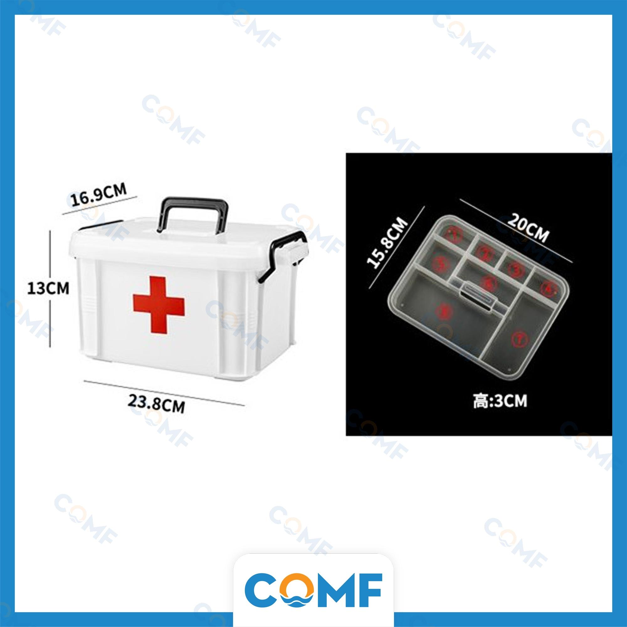 Hộp đựng thuốc gia đình COMF đa chức năng, 2 tầng