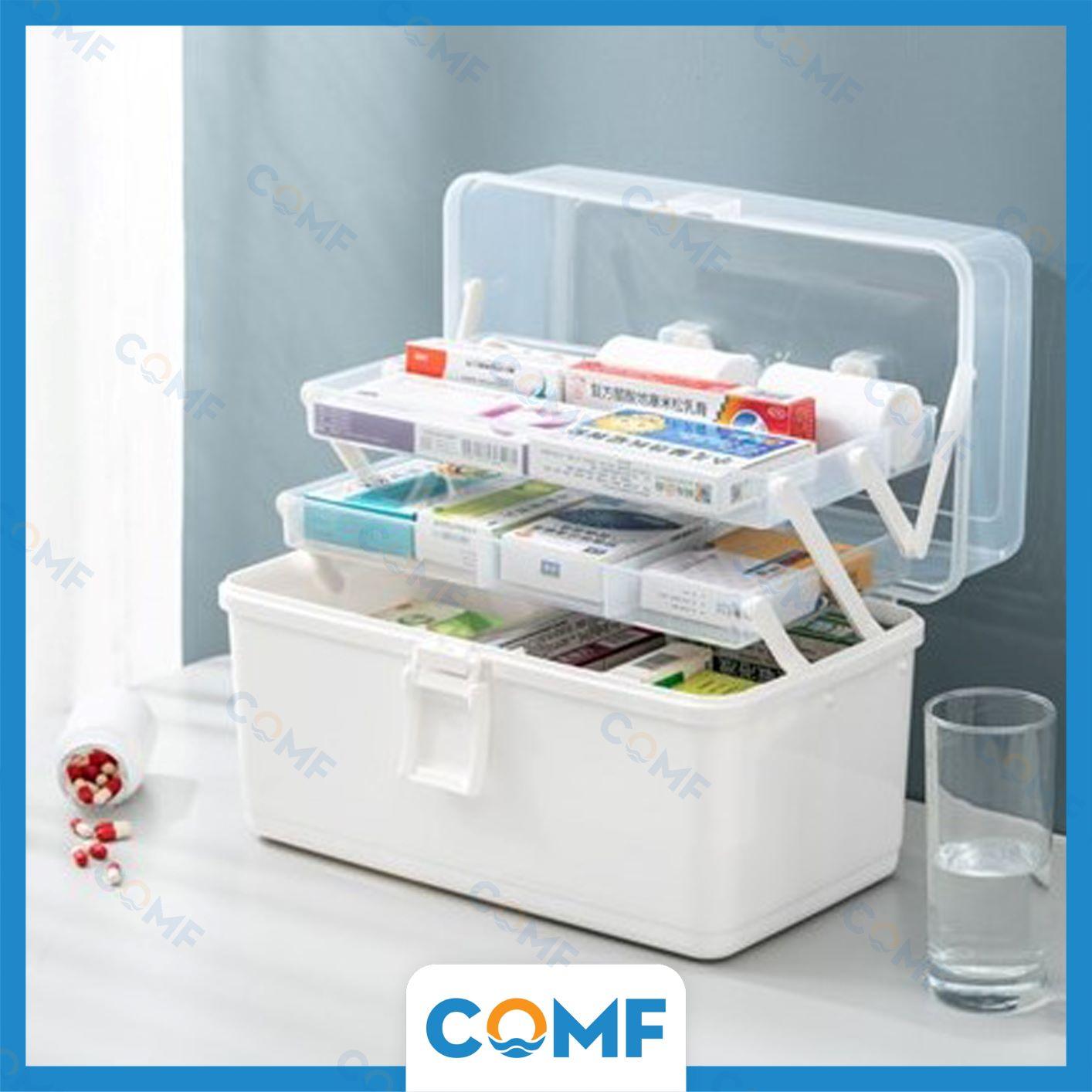 Hộp đựng thuốc gia đình COMF đa chức năng, 3 tầng