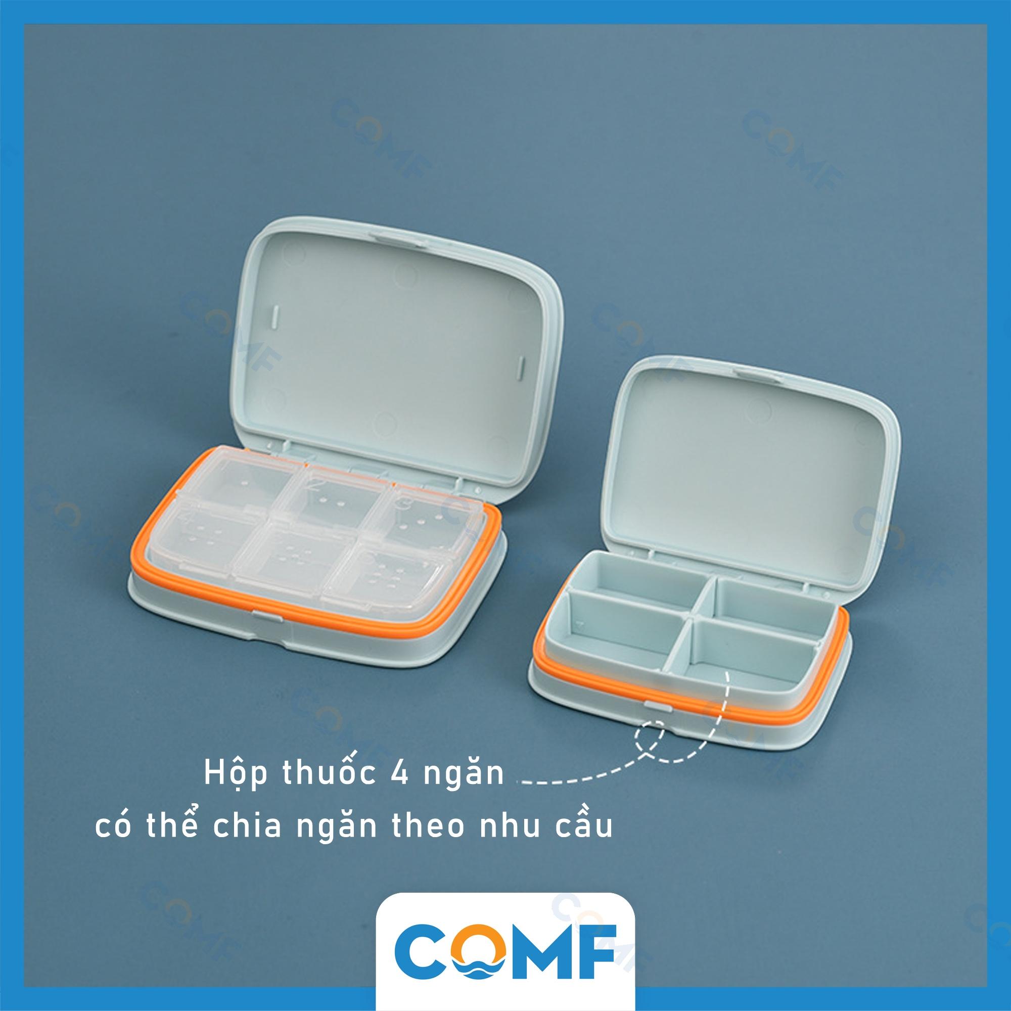 Hộp đựng thuốc cá nhân COMF hộp chia thuốc điều chỉnh số ngăn