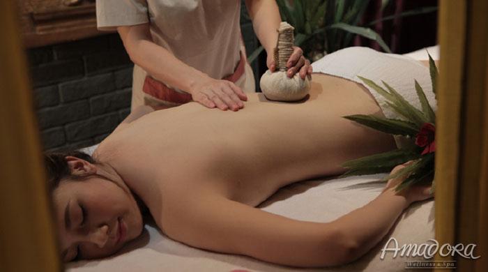 Massage lưng và đắp mặt nạ tảo biển giảm mỡ - Amadora Spa / Back massage