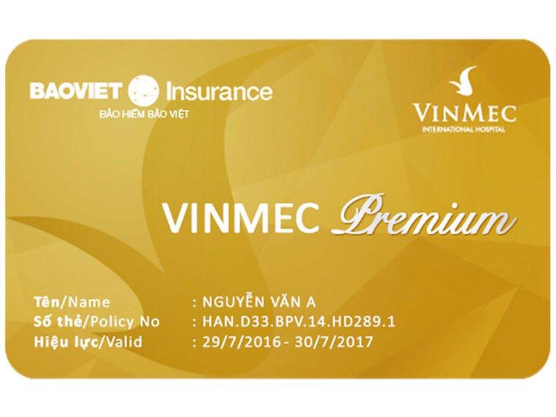 Thẻ bảo hiểm sức khỏe Vinmec Premium / Health Insurance card