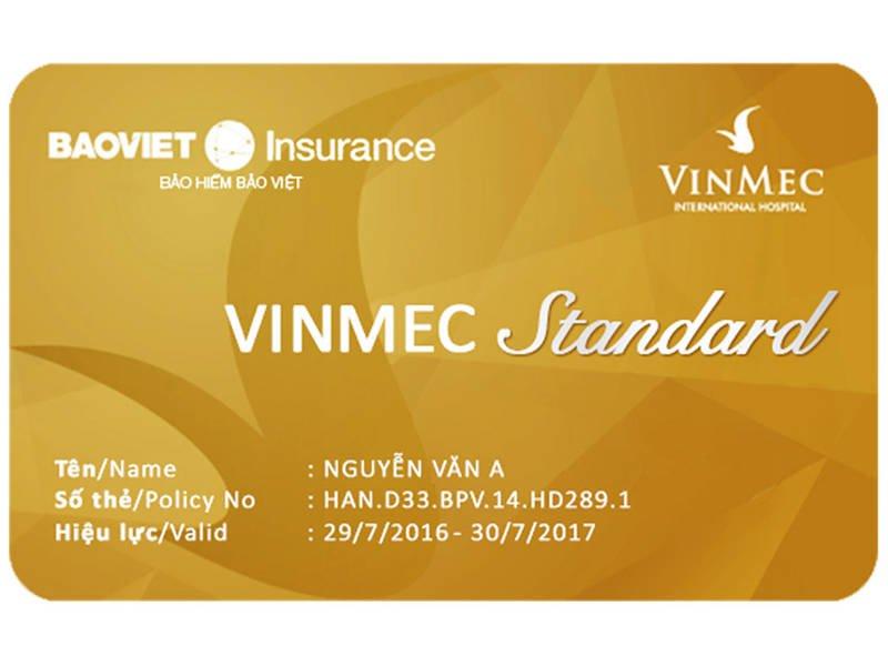 Thẻ bảo hiểm sức khỏe Vinmec Standard / Health Insurance card