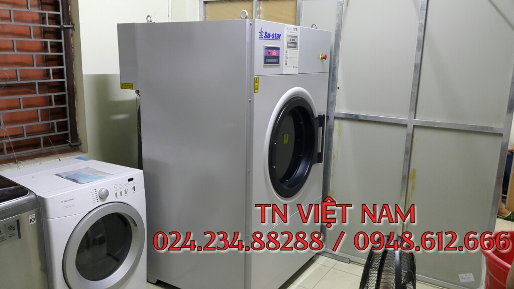 Lắp đặt máy sấy công nghiệp su-star, hóa chất giặt là tại Cầu giấy, Hà Nội