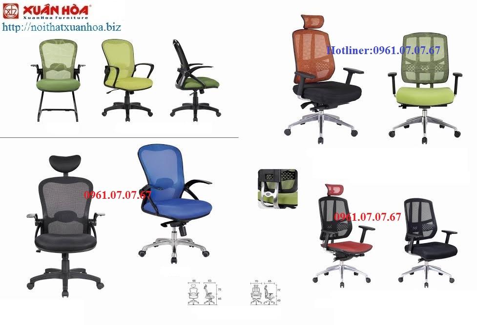 Mẫu ghế xoay văn phòng cho nhân viên với nhiều loại mẫu mã