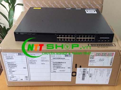 Thiết bị mạng switch Cisco WS-C3650-24TS-S  Catalyst 3650 24 Port Data 4x1G Uplink IP Base