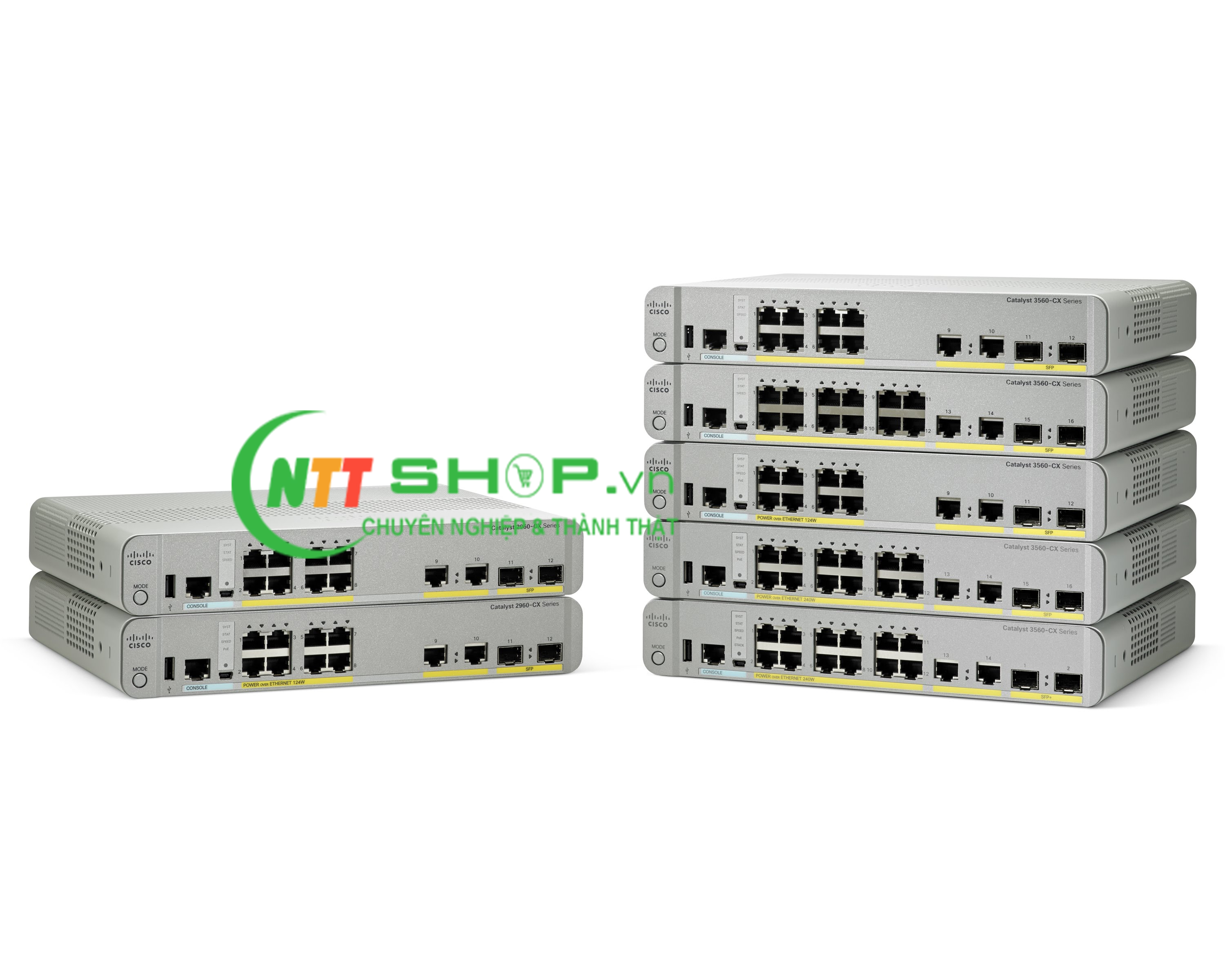Switch Cisco WS-C3560CX-12PD-S Catalyst 3560-CX 12 Port PoE, 10G Uplinks IP Base