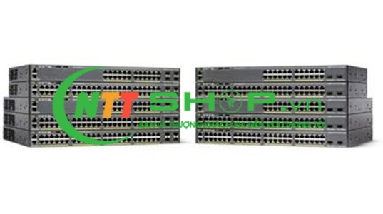 WS-C2960X-24PD-L Catalyst 2960-X 24 GigE 2 x 10G SFP+ LAN Base