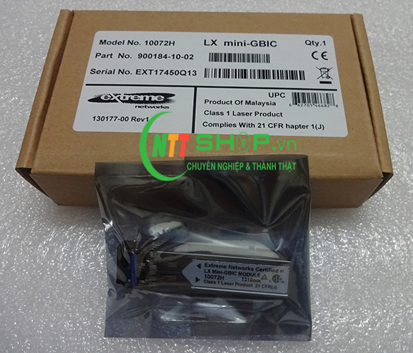 Module quang Extreme Lx Mini-GBIC 10072H 1000BASE-LX SFP 10 Pack, Industrial Temp