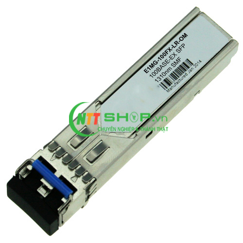 Module quang Brocade E1MG-100FX-LR-OM 100Base-FX LR SFP optic for SMF with LC connector, Optical Monitoring Capable. For distances up to 40Km.
